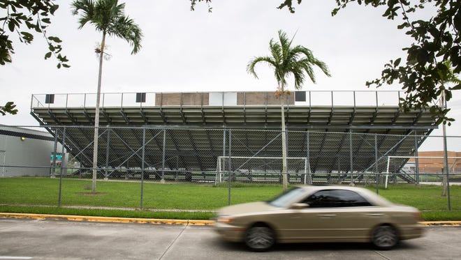 People seeking shelter were turned away from Laurel Oak Elementary School, which reached max capacity shortly after it opened its doors at Noon in North Naples on Saturday, Sept. 9, 2017, less than 24 hours from the arrival of Hurricane Irma.