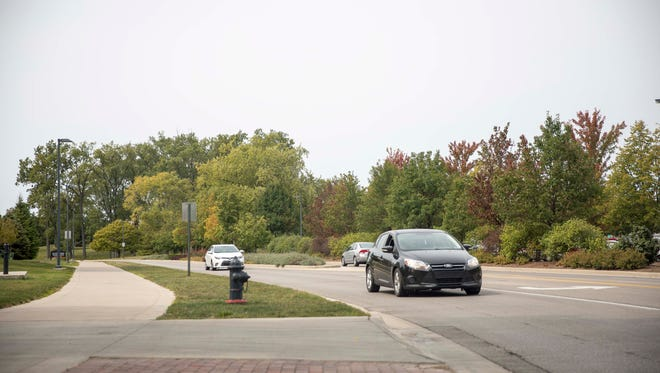 The curve in McKinley Avenue east of the Duck Pond at Ball State University will be straightened to a 90-degree angle and a roundabout will be added.