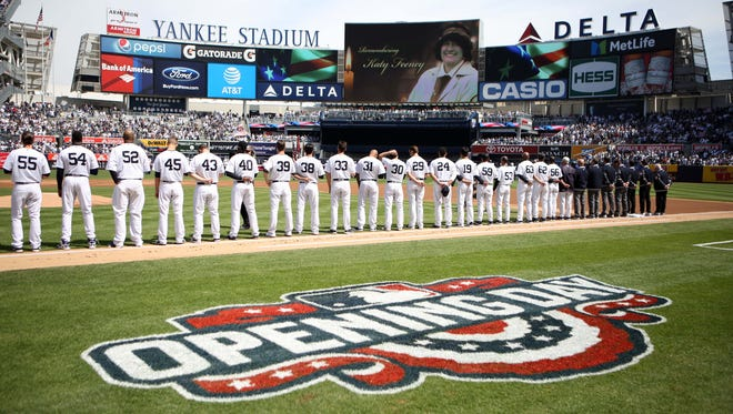 Opening Day at Yankees Stadium in 2017 against the Rays.