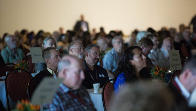 Domenici Public Policy confrence attendees listen to Dr. Antonia Novello during the second day of the conference at the Las Cruces Convention Center. September 14, 2017.