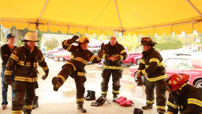 The Lyons firefighters have a good time at the annual Chili Cook-Off & Car Show.