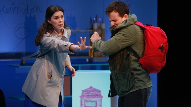 """Nick LaMedica, right, plays the leading role of Christopher in the Playhouse in the Park's production of """"The Curious Incident of the Dog in the Night-Time."""""""