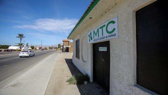 The MTC shop located near the Oklevueha Native American Church in Coachella on Tuesday, October 17, 2017.