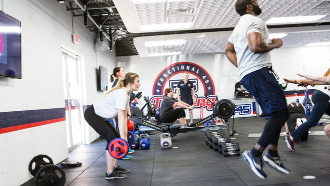 Inside Staunton's new cross training gym F45 located on Statler Boulevard.