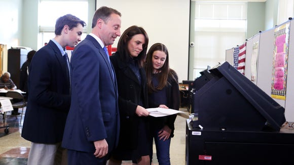 Westchester County Executive Rob Astorino casts his