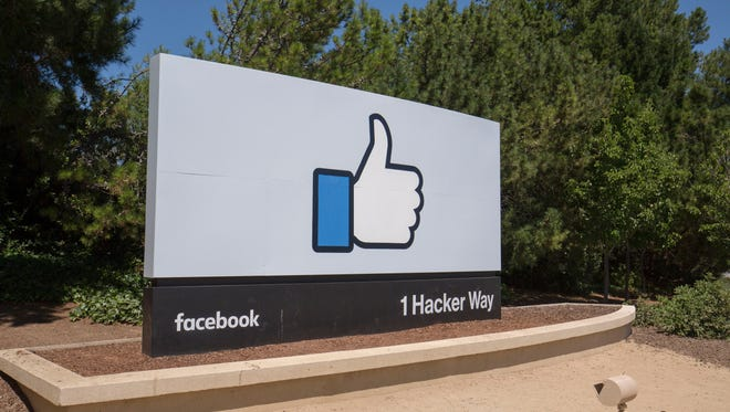 A Like logo at Facebook headquarters in Menlo Park, Calif.