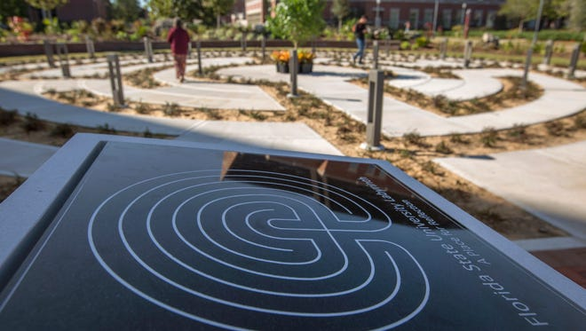 The collaborative efforts of multiple Florida State University departments were celebrated the grand opening of the new campus labyrinth.