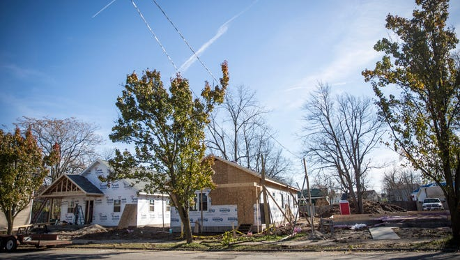 New housing for veterans is being constructed by the city of Muncie, the Muncie Area Career Center and Muncie Home Ownership atthe corner of West Kilgore Avenue and West Charles Street.