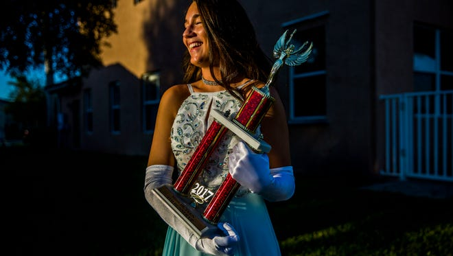 Palmetto Ridge junior Kaitlyn Sokolich at her Naples home on Tuesday, Nov. 21, 2017. Sokolich is competing in the 2017 Miss Teen.