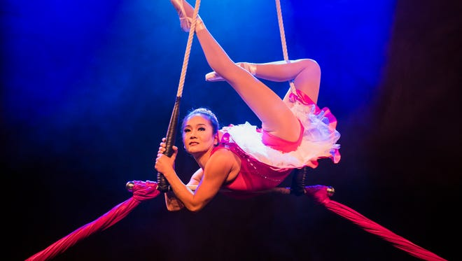 """The Sugar Plum Fairy gets a whole new skill set in Troupe Vertigo's """"A Cirque Nutcracker,"""" which gets its world premiere at the Mesa Arts Center with the Phoenix Symphony."""