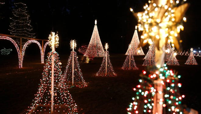 The light display at the Allison Christmas Spectacular at 240 Sandy Creek Road, Havana.
