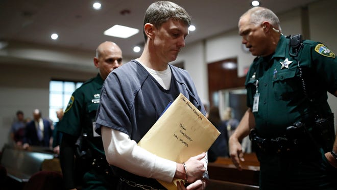 Brian Winchester is sentenced to 20 years Tuesday at a Leon County Courthouse on charges of armed burglary and kidnapping at gunpoint of his estranged wife Denise Winchester last year.