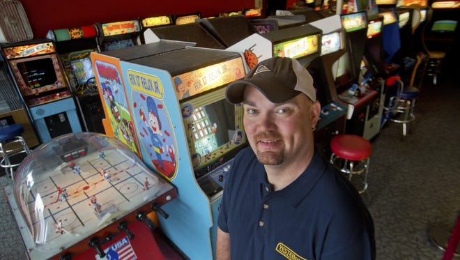 Ken Kalada, owner of Yestercades, a video game arcade with an old-school video game appeal in Somerville and Red Bank.