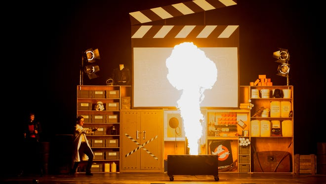 """Fire and explosions are among the movie magic that will demonstrated and explained in """"The Hollywood Special Effects Show.""""  The stage production, which includes music from films, will be presented at the Mayo Performing Arts Center this Wednesday, January 31."""