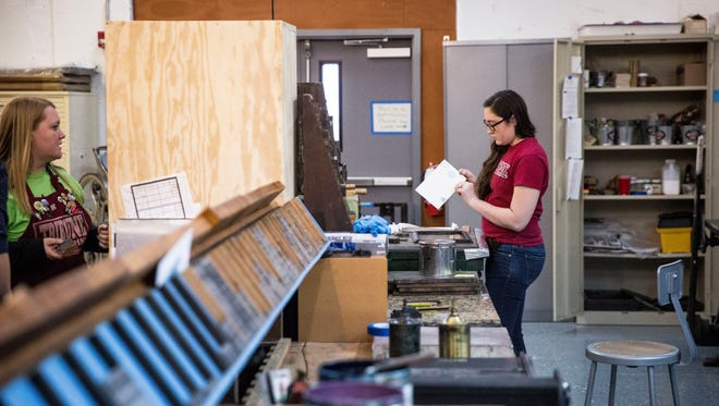 Ball State University students with the Books Arts Collaborative continue to work on different projects inside their space located inside the Madjax makers force. The collaborative work is one of several immersive projects that have found a home in the makers hub.