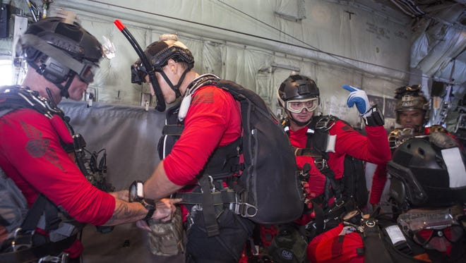 Guardian Angel Airmen on board an HC-130P/N King fixed-wing aircraft from the 920th Rescue Wing were part of concerted rescue effort of approximately 80 wing personnel and four wing aircraft that rescued two German citizens in distress at sea July 7, 2017 and into July 8. The victim's vessel caught fire approximately 500 nautical miles off the east coast of southern Florida. At the request of the U.S. Coast Guard's Seventh District in Miami, the 920th RQW was alerted by the Air Force Rescue Coordination Center at Tyndall Air Force Base, Florida, to assist in the long-range search and rescue. Approximately 80 wing Citizen Airmen and four wing aircraft helped execute the rescue mission to include, maintenance, operations and support personnel.