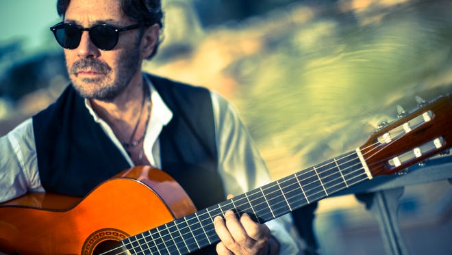 CAPTION  Al DiMeola, a guitarist whose work has elements of jazz fusion and world music, will perform an acoustic concert at the Newton Theatre on Friday, February 9. A native of Jersey City, DiMeola began his career in the groundbreaking jazz fusion group Return to Forever in the early 1970s.