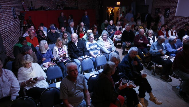 The audience at the Junction at Monroe before the Tallahassee Democrat's first Storytellers Project Jan 29.