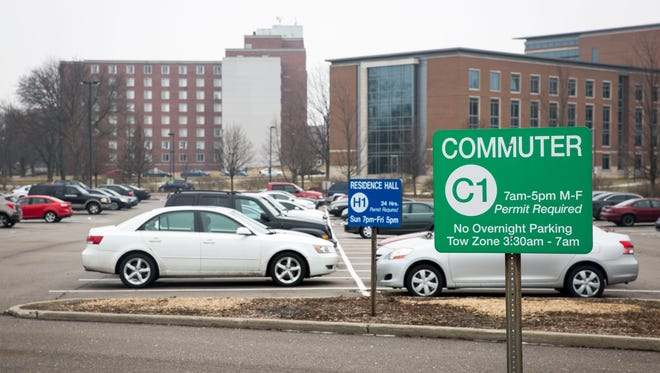 The C1 commuter parking lot at Ball State University is north of Worthen Arena. The University now offers a parking permit at$5 per day, whichallows a visitor to park in any yellow or greenmarked lots across campus.