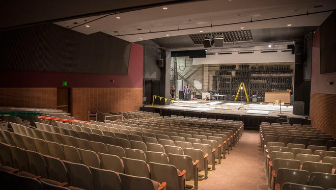 University Theatre is one of Ball State's largest theaters for student productions. The 410 seat mainstage theater is also one of the most technologically advanced theaters on campus.