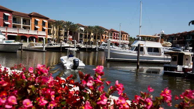 The marina at The Naples Bay Resort & Marina  adjacent to Naples Bay Thursday, March 15, 2018 in downtown Naples.