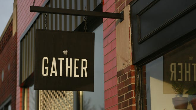 Gather is located at 1454 Gratiot in Detroit's historic Eastern Market district.