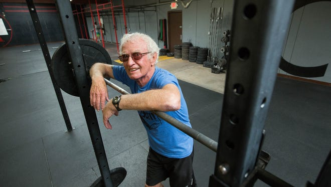 John LeRoy, 81, a CrossFit enthusiast, trains alongside people half his age or younger on Thursday, April 5.