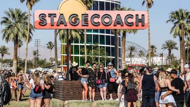 Apr 27, 2018; Indio, CA, USA; Country music fans attend the Stagecoach Country Music Festival at Empire Polo Club.  Mandatory Credit: Richard Lui/The Desert Sun via USA TODAY NETWORK