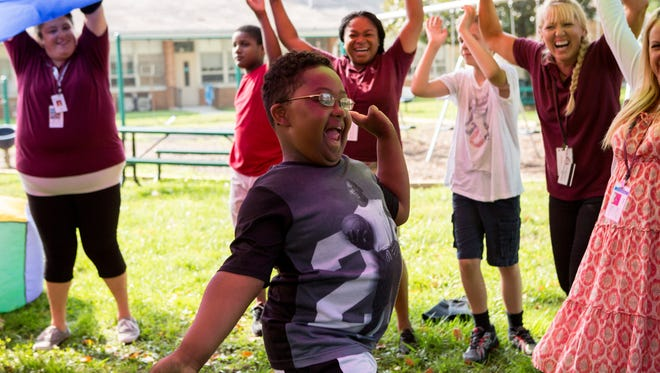 Students enjoy playtime at Bancroft.