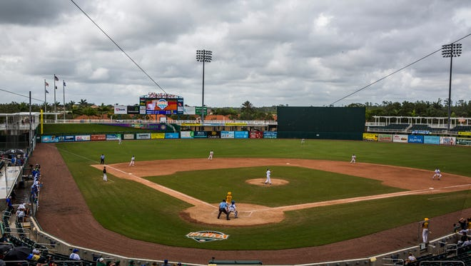 Barron Collier played Merritt Island in the Class 6A state semifinal at Hammond Stadium in Fort Myers on Wednesday, May 30, 2018.