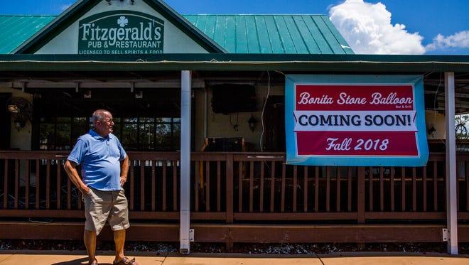 Jim Werkheiser, owner of the upcoming restaurant Bonita Stone Balloon Bar & Grill, formerly known as Fitzgerald's, in Bonita Springs on Thursday, June 7, 2018.
