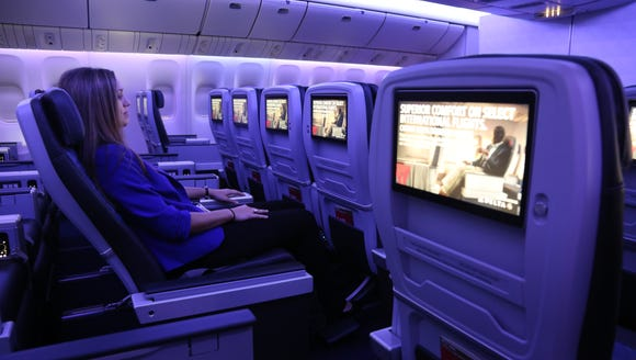 Delta's international-style premium economy cabin –