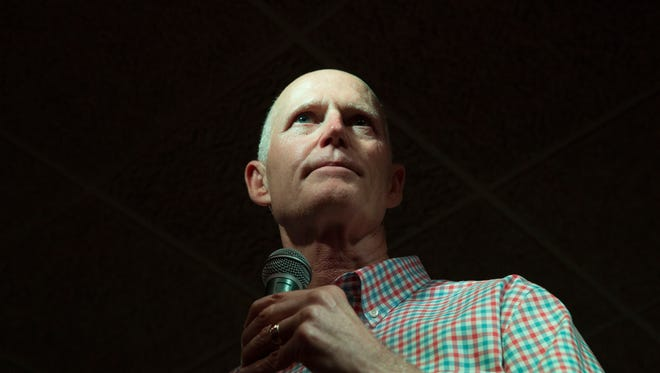 Rick Scott speaks about his time as Florida's governor, his race against Bill Nelson and his vision for his term in the US Senate during his first club appearance since announcing his Senate run, on Saturday, June 16, 2018 at ROW Restaurant by Capt. Brian & Crew.