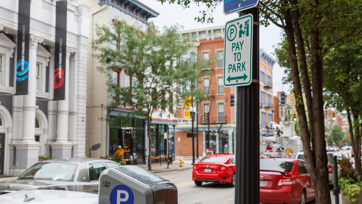 Rates for parking meters on Vine Street in Over-The-Rhine are going up and will run until 11 p.m. three days a week. Picture taken on Vine Street, Monday, July 2, 2018.