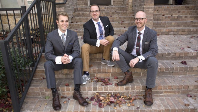 The Broin brothers, from left - Adam, Jacob and Derek -- recently purchased Cufflinks, a mens accessories e-commerce business, and moved it to Sioux Falls.