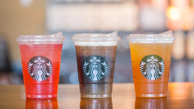 Starbucks' new recyclable strawless lids.