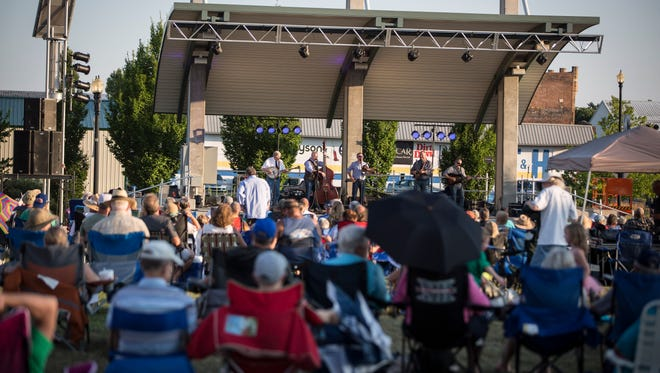 In years past, like this photo from 2018, Muncie Three Trails Music Series at Canan Commons has drawn large crowds. However, the 2020 series has been canceled due to coronavirus.