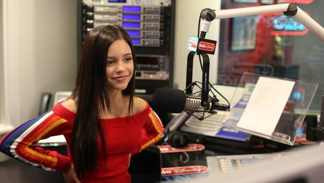 Actress Jenna Ortega in a recording session at the Radio Disney studio in Burbank, CA.