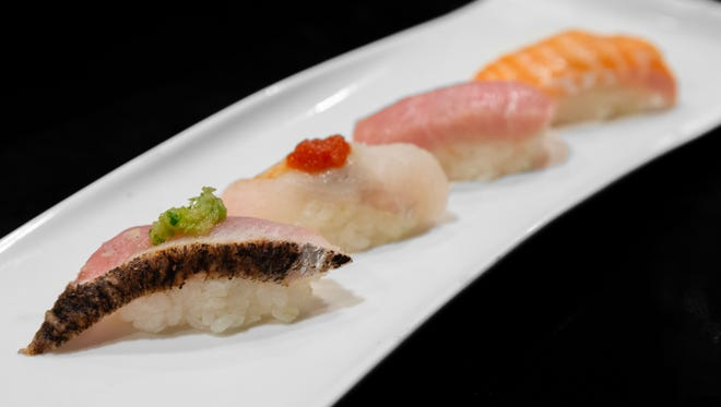 Dishes from Ai Sushi in Somerville, formerly Shumi.