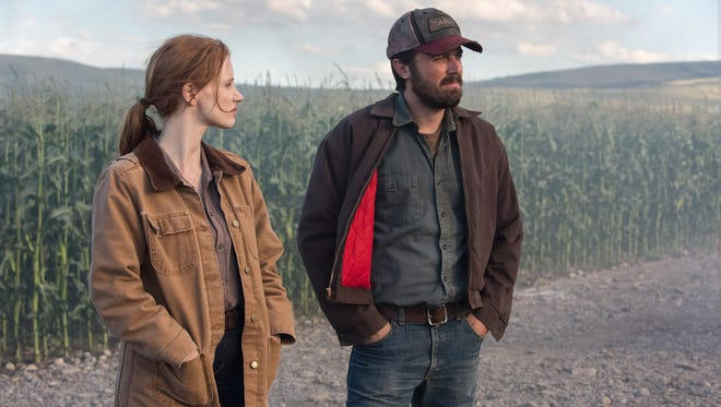 Jessica Chastain and Casey Affleck in a scene from 'Interstellar'
