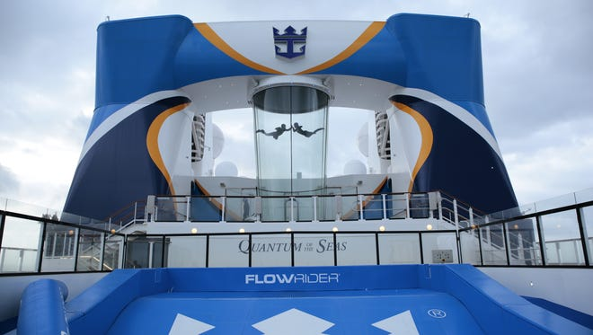 Royal Caribbean's new Quantum of the Seas features a skydiving simulator called RipCord by iFLY.
