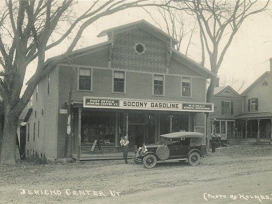 A view of the Jericho Center Country Store, possibly in the late 1890s.