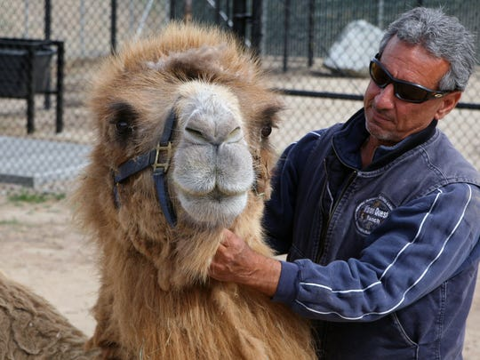 Kenji and Charlie Sammut, director of the Monterey Zoo