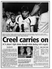 An Advertiser story from October 2007 on Jordan Creel.