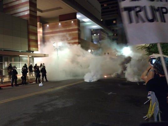 Gas protest Phoenix Trump