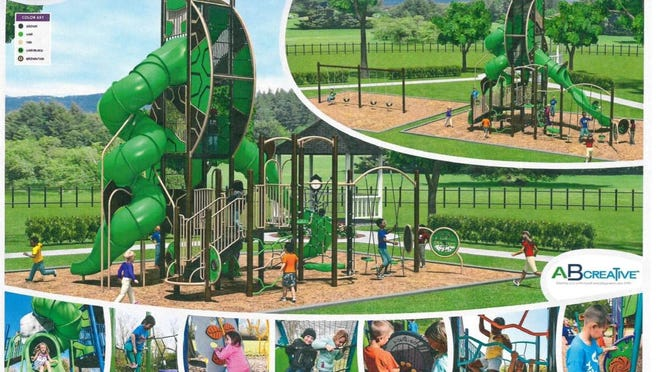 """Online voters selected a new playground design for Riverview Park in El Dorado. The winning design was created by AB Creative, a company from DeSoto, and includes a multiple climbing areas, a spinner panel and a """"Cobra Corkscrew"""" slide."""
