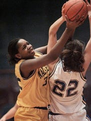 Nazareth's Rochelle Cherry, left, in a 1998 file photo.