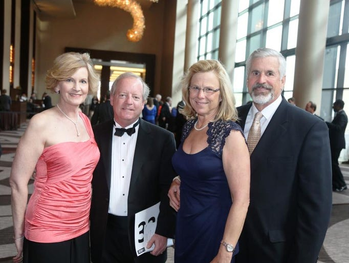 Kim and Peter Oldham, left, and Judi and Ken Gerdesmeier at the 2014 JDRF Promise Gala, held at the Omni Nashville Hotel.