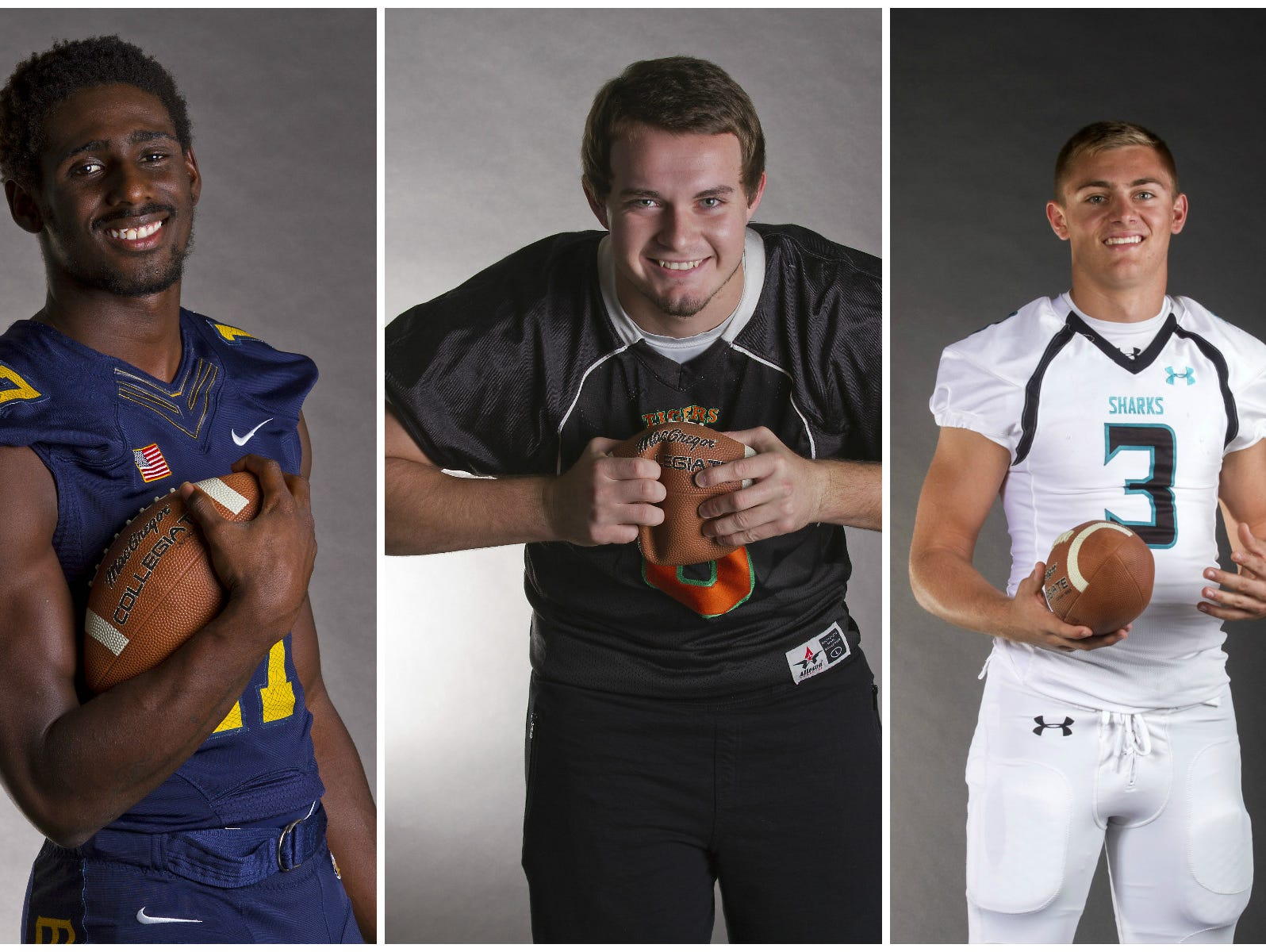 The News-Press football defensive player of the year finalists.