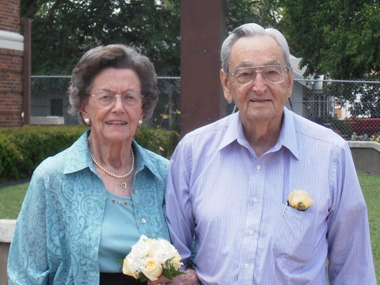 Doris and Scott Tatum celebrate their 75th wedding anniversary on June 17.